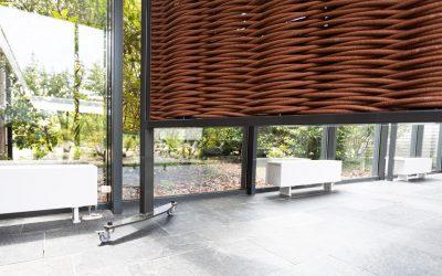 Recent project: zichtafscheiding bij crematorium