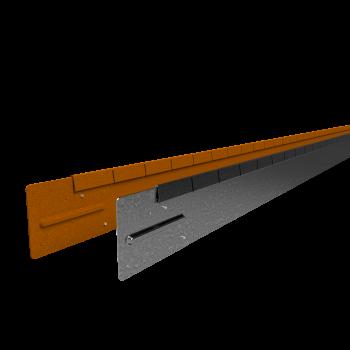 Flexline 100 mm. - Kantopsluiting voor vloeiende lijnen