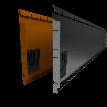 Flexline 400 mm. - Rand voor vloeiende lijnen
