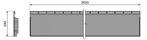 Straightcurve Flexline 240 mm. afmetingen