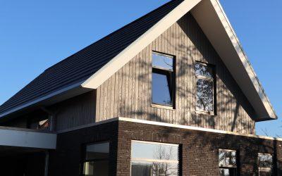 Nieuwbouw of verbouw met houten gevelbekleding